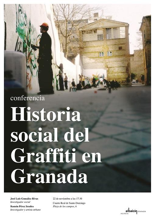 """Conferencia de José Luis González Rivas sobre la """"Historia social del Graffiti en Granada"""""""