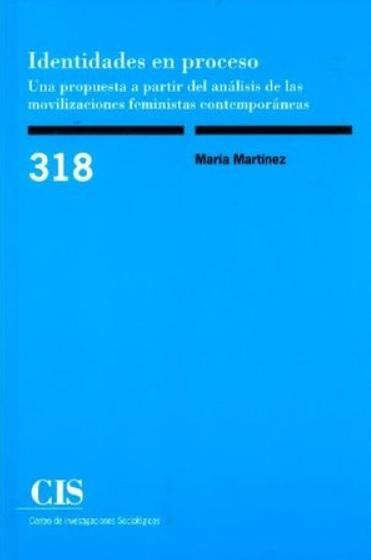 """María Martínez González is presenting her book """"Identidades en proceso. Una propuesta a partir del análisis de las movilizaciones feministas contemporáneas"""""""