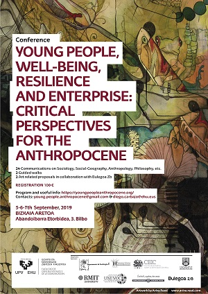 "Congreso Internacional ""Young people, well-being, resilience and enterprise: critical perspectives for the Anthropocene"""