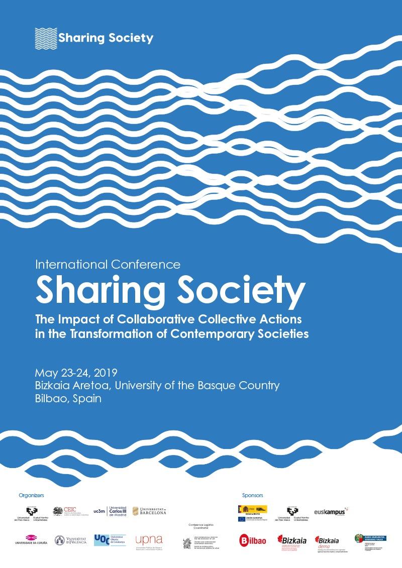 """Congreso Internacional """"Sharing Society. El impacto de las acciones colectivas colaborativas en la transformación de las sociedades contemporáneas"""""""